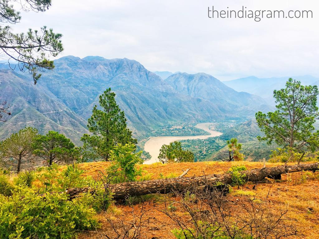 Satluj River View from Mountains