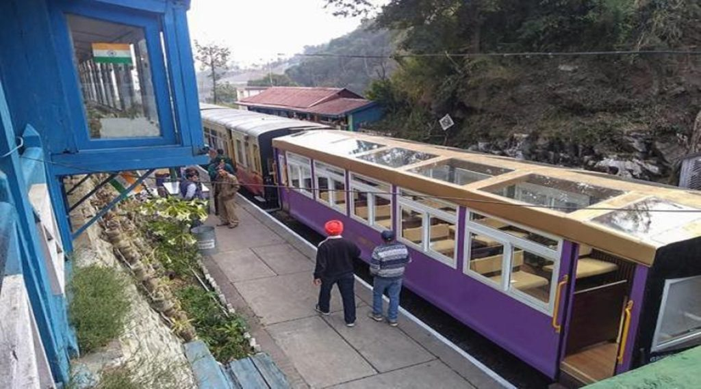 Kalka to Shimla Train Up side view