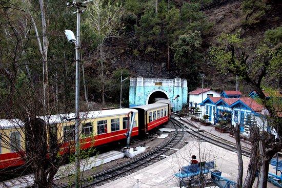Train at Barog Tunnel