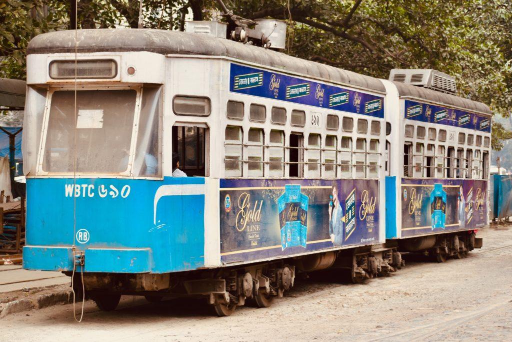 कोलकाता ट्राम का एक दृश्य