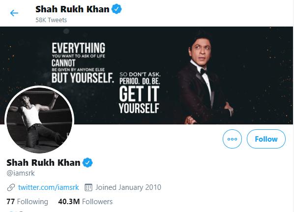 shah rukh khan on twitter