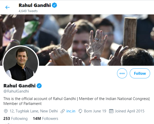 rahul gandhi on twitter