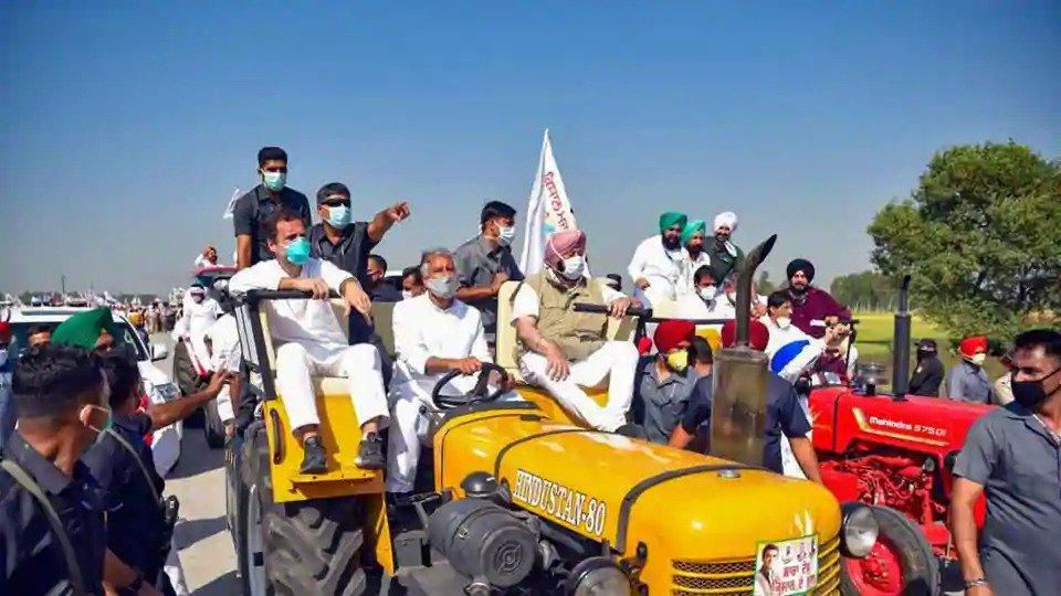 rahul gandhi in punjab protests